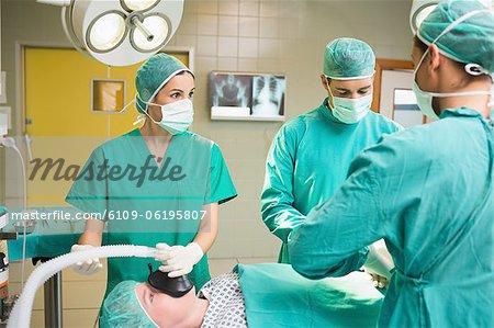 Patienten in Chirurgie