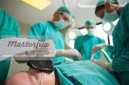 Ein Patient Eingriffs im Fokus