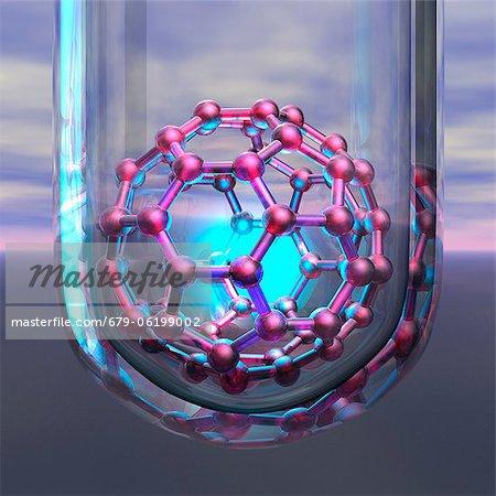 Nanotechnology research, conceptual computer artwork..