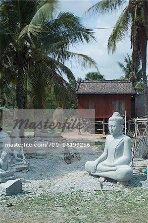 Statue de Bouddha Factory, Cambodge