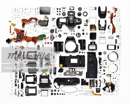 Demontierte Kamera