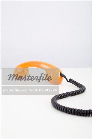 Orange Telephone Receiver