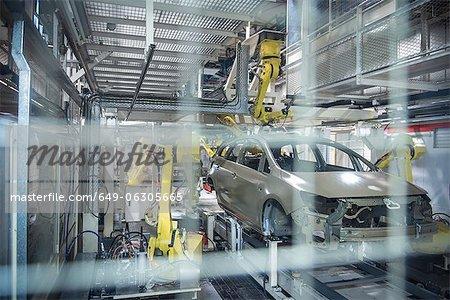 Application de mastic pour voitures dans l'usine automobile de robots