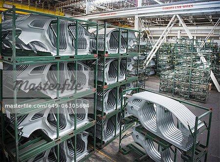 Pièces de corps de voiture en usine automobile
