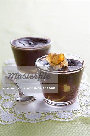 Schokolade und Bananen-pudding