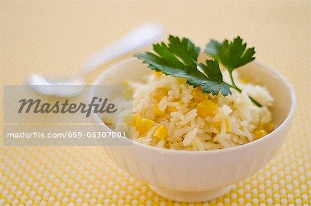 Riz à l'ananas et le maïs doux (Caraïbes)