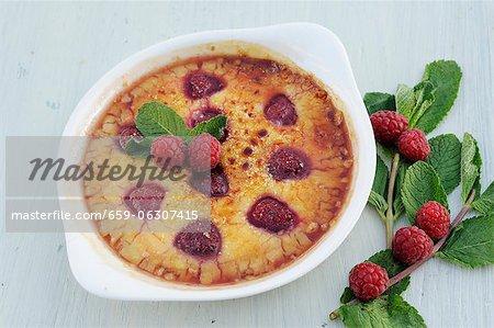 Raspberry creme brulee