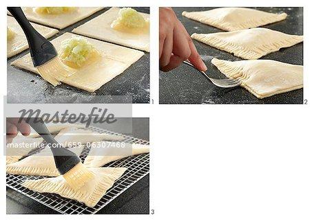 Préparation des chaussons aux pommes