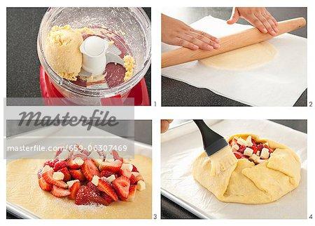 Schritte zur Herstellung einer Berry Tart