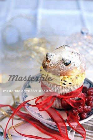 Mini panettone rempli de crème de mascarpone