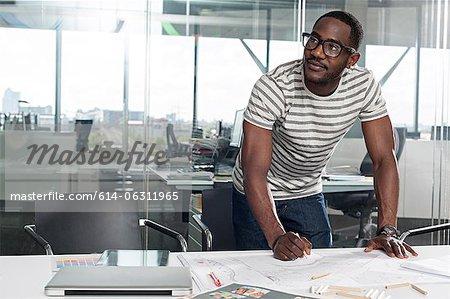 Man planning in office