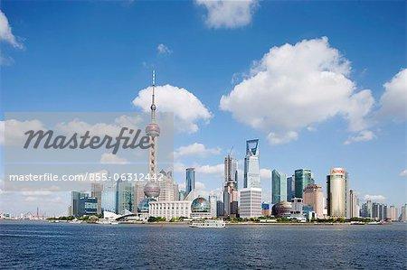 Skyline von Luijiazui Bund, Shanghail China