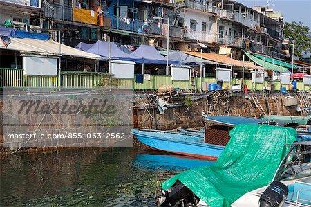 Vieux village en bord de mer de Sai Kung, Hong Kong