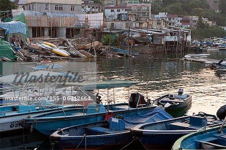 Yachts and boats mooring at Sai Kung, Hong Kong