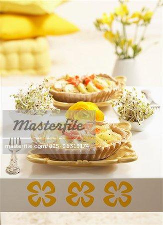 Potato,tomato and lemon tartlets