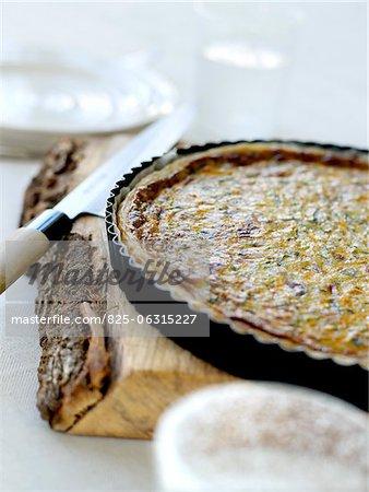 Râpé tarte salée aux carottes et courgettes