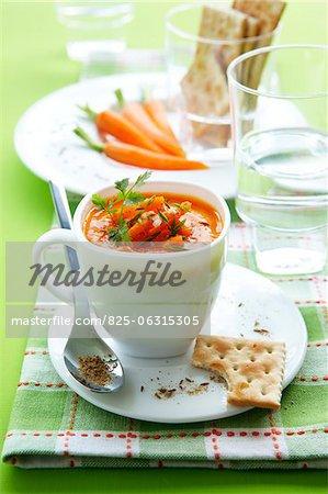 Soupe aux carottes et au cumin