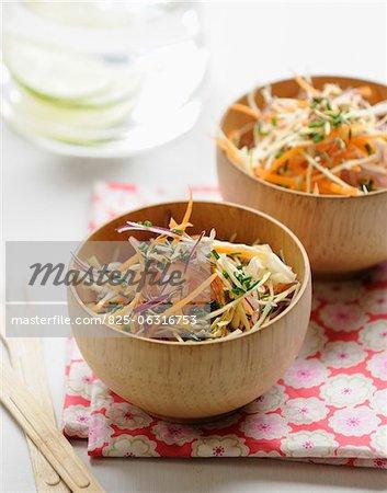 Salade de chou et carottes râpée aux graines de fenouil