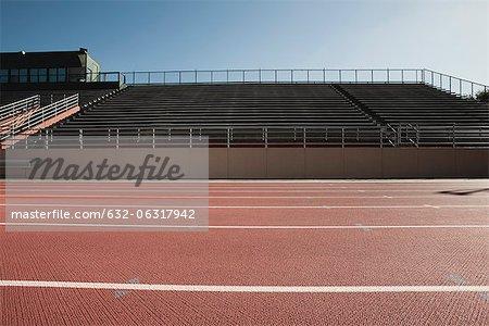 Stadium and running tracks