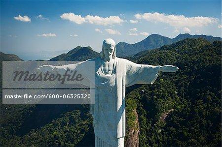 Christ the Redeemer Statue on Corcovado Mountain, Rio de Janeiro, Brazil