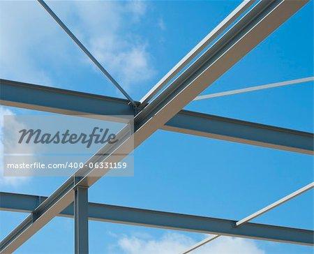 industrial building construction of steel framework