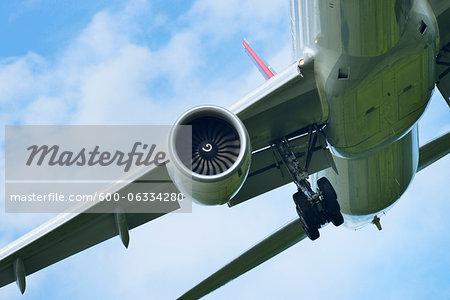 Approaching Airplane, Frankfurt Airport, Frankfurt, Hesse, Germany