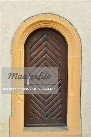 Close-Up of Monastery Door, Maria Bildhausen, Munnerstadt, Bavaria, Germany