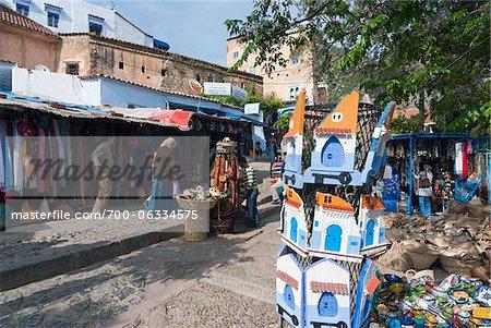 Souvenir-Shops in der Kasbah, Chefchaouen, Provinz Chefchaouen, Tanger-Tetouan Region, Marokko