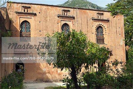 Construire dans le cadre de Al Kasaba murs, Province de Chefchaouen, région de Tanger-Tétouan, Chefchaouen, Maroc