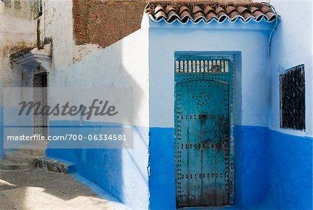 Architecturaux détail, Chefchaouen, Province de Chefchaouen, région de Tanger-Tétouan, Maroc