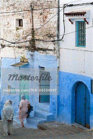 Promeneurs, Chefchaouen, Province de Chefchaouen, région de Tanger-Tétouan, Maroc