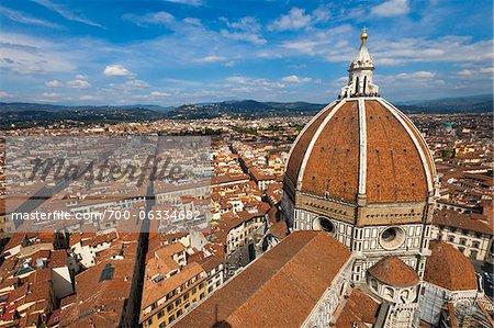 View of City from Basilica di Santa Maria del Fiore, Florence, Tuscany, Italy