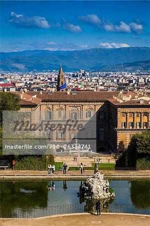 Jardins de Boboli et le Palazzo Pitti, Florence, Toscane, Italie