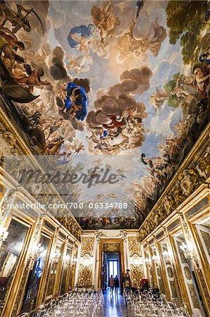 Fresco Ceiling by Luca Giordana, Palazzo Medici Riccardi, Florence, Tuscany, Italy