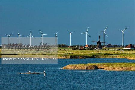 Éoliennes et moulin à vent