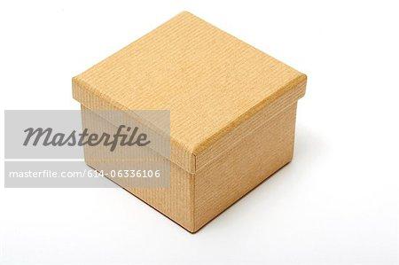 Boîte de papier brun