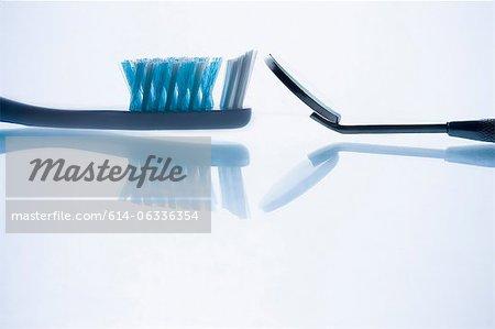 Nahaufnahme von Zahnarztinstrumente