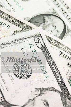 Detail of five dollar bill