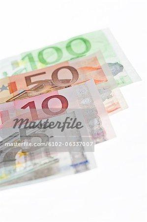 Row of euro notes