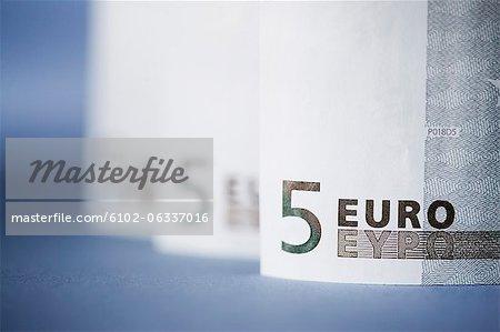 Fünf Euro-Banknoten