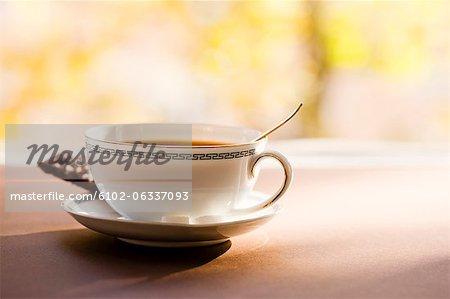 Tasse de café avec des biscuits, nature morte