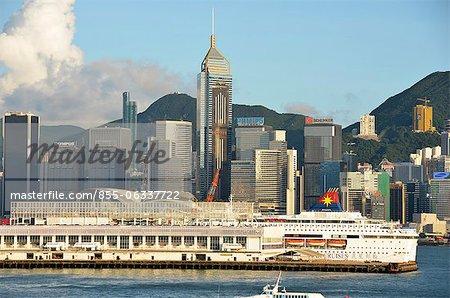 Skyline Ocean Terminal et Wanchai, Hong Kong
