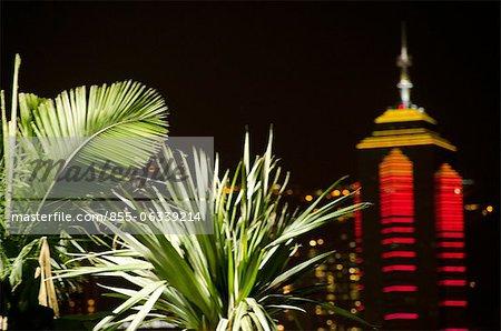 Gratte-ciel « Le centre » de l'ouest de Kowloon, Hong Kong
