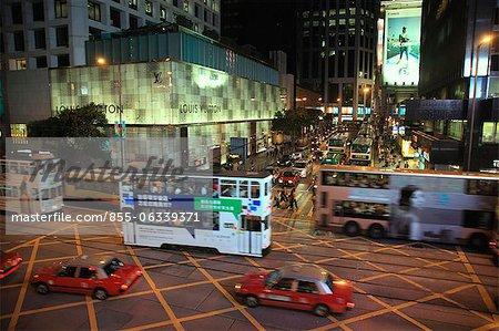 Central nuit, Hong Kong