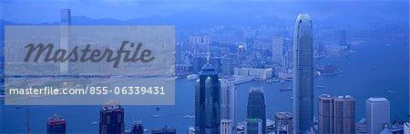 Paysage urbain depuis le pic, Hong Kong
