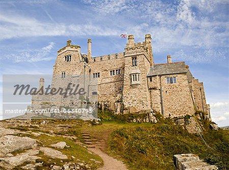St. Michael's Mount Burg gesehen schließen oben, Cornwall, England, UK, Europa.