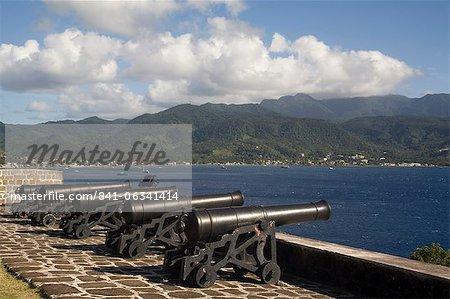 Fort Shirley, Parc National de Cabrits, Portsmouth, Dominica, West Indies, Caraïbes, Amérique centrale