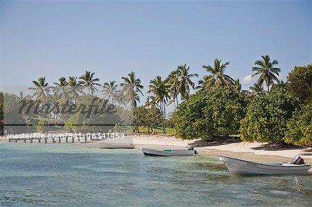 Beach, Cayo Levantado, Samana Bay, Dominican Republic, Greater Antilles, West Indies, Caribbean, Central America