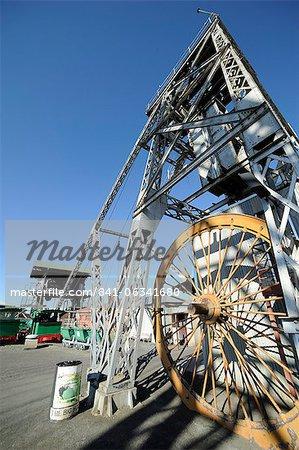 Diamond mine equipment, Kimberley, South Africa, Africa