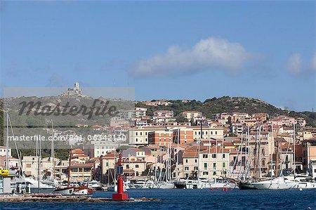 View of the port, La Maddalena, Maddalena Islands, Sardinia, Italy, Mediterranean, Europe